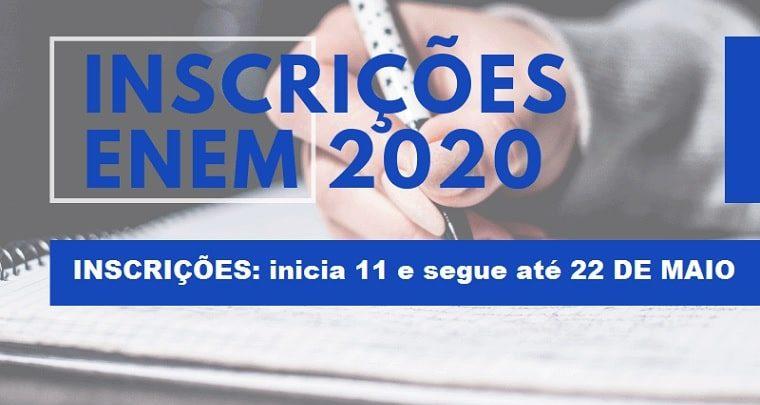 Inscrições para o Enem 2020 começam na próxima segunda-feira -